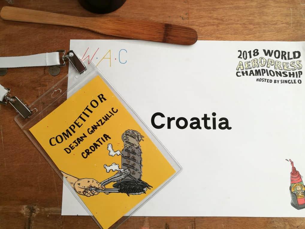 Dejan Ganžulić AeroPress svjetsko prvenstvo 2018